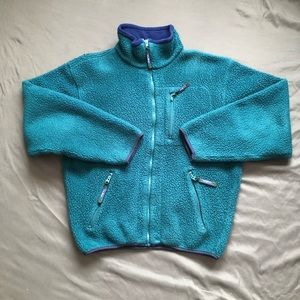 Vintage LL Bean Sherpa Fleece Zip Up
